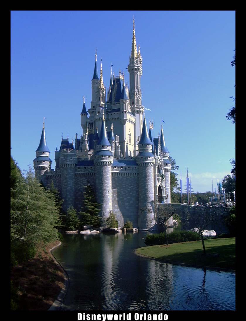 DisneyWorld Cinderella castle by mortichro