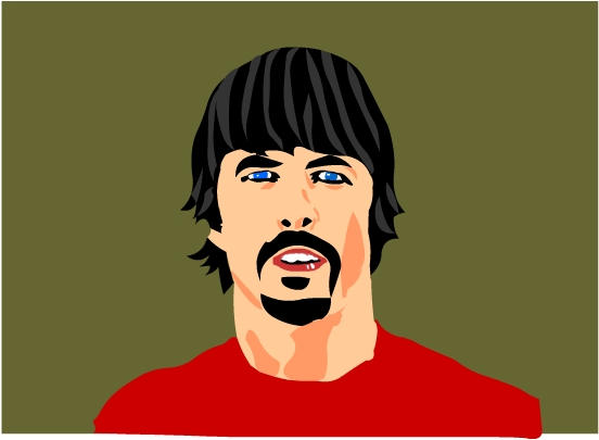 Dave Grohl Vector by mortichro