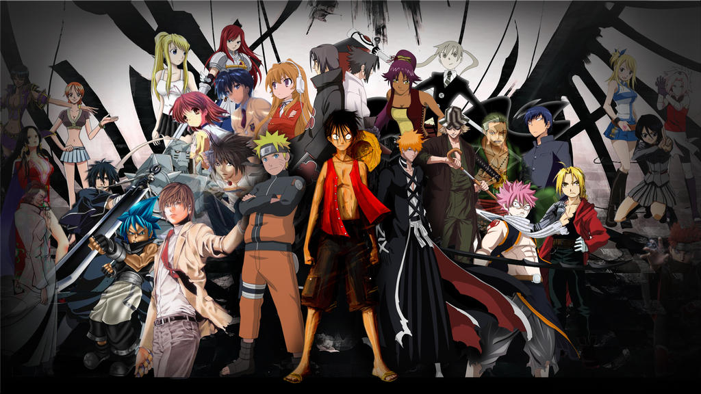 Anime Mix Wallpaper by Fanatic2015 on DeviantArt