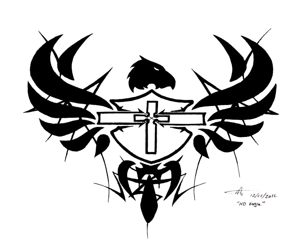 Tattoo design - HD Shield, Cross, and Eagle by WaruiJaNai ...
