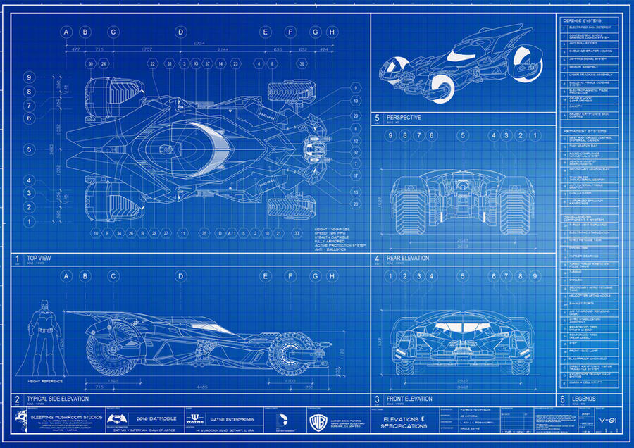 2016 batmobile blueprint by madpotatoes on deviantart