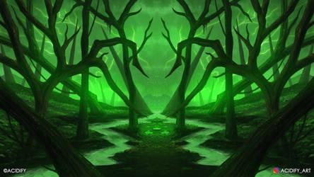 Marshland (2D Environment Fantasy Concept Art)