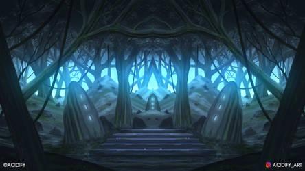 Eden (2D Fantasy Landscape Concept Art)