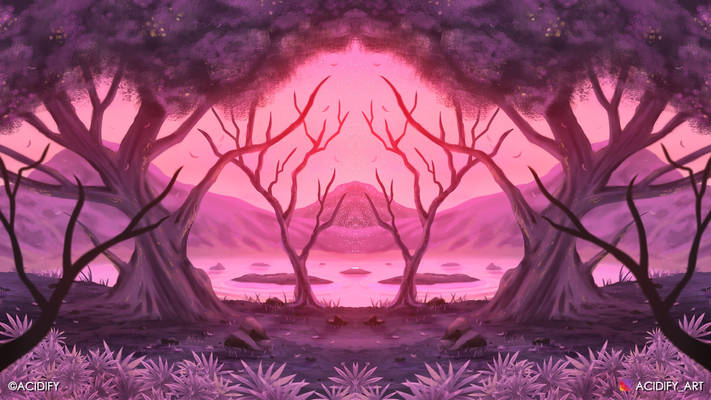 Blossom (2D Environment / Landscape Concept Art)