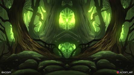 Majestic Woods (2D Fantasy Landscape Concept Art)