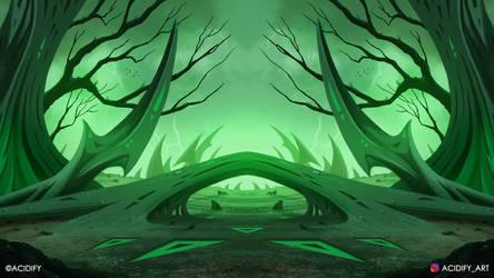 Warblade (2D Fantasy Landscape Concept Art)