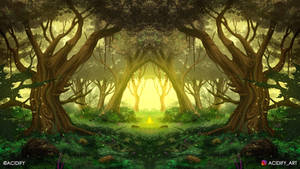Bliss (2D Fantasy Landscape Concept Art)