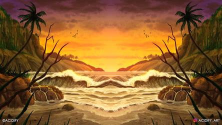 Tropics (2D Environment / Landscape Concept Art)