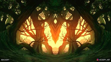 Roots (2D Landscape / Symmetry Concept Art)