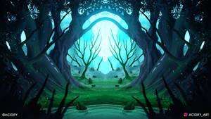 The Gate (2D Landscape / Symmetry Concept Art)