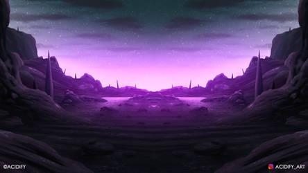interstellar (2D Landscape / Symmetry Concept Art)