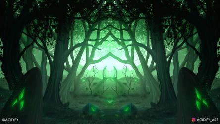 Utopia (2D Landscape / Symmetry Concept Art)