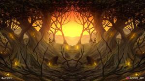 Freedom (2D Landscape / Symmetry Concept Art)