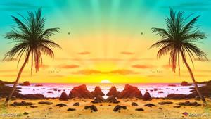 Coastline (2D Beach Landscape / Symmetry Art)