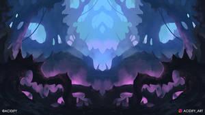 Abyss (2D Fantasy Cave Landscape / Symmetry Art)