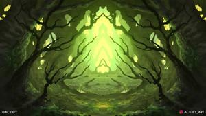 Undergrowth (2D Landscape / Symmetry Concept Art)