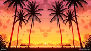 Cruise (2D Landscape Symmetry Concept Art)