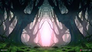 Boscage (2D Forest Landscape Symmetry Concept Art)