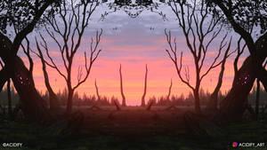 Afterglow (2D Landscape / Symmetry Concept Art)