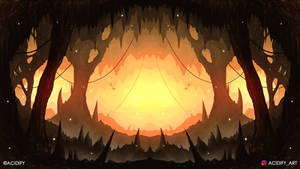 Hollow (2D Fantasy Cave Landscape / Symmetry Art)