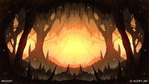 Hollow (2D Fantasy Cave Landscape / Symmetry Art)