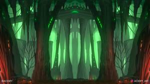 Haze (2D Fantasy Landscape / Symmetry Concept Art)