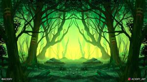Wilderness (2D Landscape / Symmetry Concept Art)