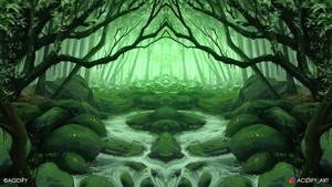 Creek (2D Landscape / Symmetry Concept Art)