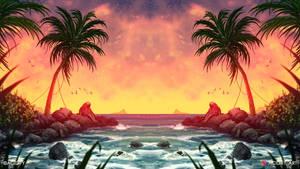 Tide (2D Landscape / Symmetry Concept Art)