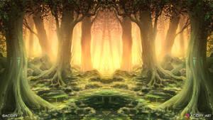 Komorebi (2D Landscape / Symmetry Concept Art)