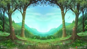 Journey (Valley Landscape / Symmetry Concept Art)