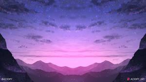 Twilight (Fantasy Sunset Landscape / Symmetry Art)