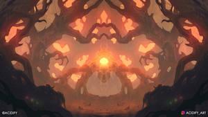 Entity (Forest Landscape / Symmetry Concept Art)