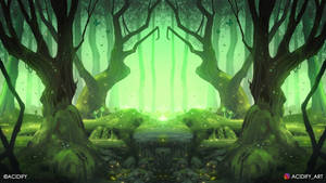 Crystal (Forest Landscape / Symmetry Concept Art)