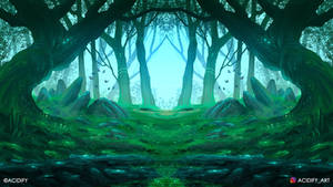 Spirit (Forest Landscape / Symmetry Concept Art)