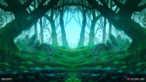 Spirit (Forest Landscape / Symmetry Concept Art)