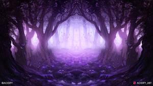 Lavender (Forest Landscape / Symmetry Concept Art)