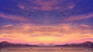 Eventide (Ocean Landscape / Symmetry Concept Art)