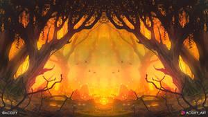 Blaze (Forest Landscape / Symmetry Concept Art)