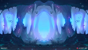 Underwater (Fantasy Cave Landscape / Symmetry Art)