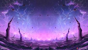Galaxy (Outer Space Landscape Fantasy Concept Art)