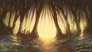 Pathway (Fantasy Forest Landscape Concept Art)