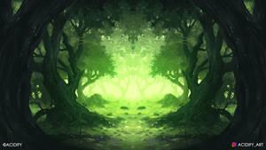 Zen (Forest Landscape / Symmetry Concept Art)