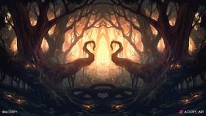 Spiral (Forest Landscape / Symmetry Concept Art)