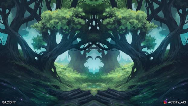 Garden (Forest Landscape / Symmetry Concept Art)