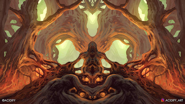 Shaman (Fantasy Forest / Symmetry Concept Art)