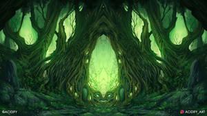 Tribal (Forest Landscape Symmetry Concept Art)