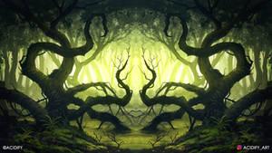 Swamp (Forest Landscape Symmetry Concept Art)