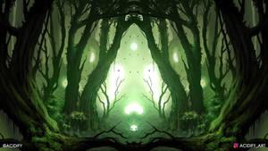 Evergreen (Fantasy Forest / Symmetry Concept Art)