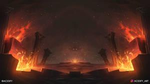 The Fire (Fire Landscape / Symmetry Concept Art)